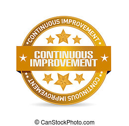 continuous improvement seal sign concept illustration design...