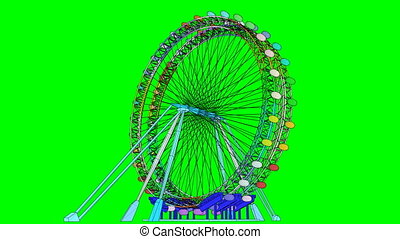 Double Carousel Colorful Animation On Green Screen Use your...