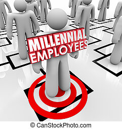 Hiring Millennial Employees Organization Chart Staff Young...