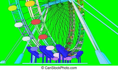 Double Carousel Colorful Animation