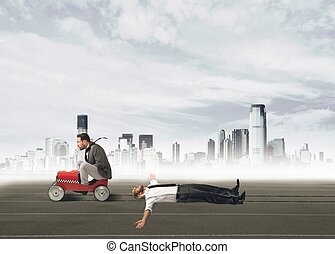 Ruthless businessman - Businessman ruthless and pissed...
