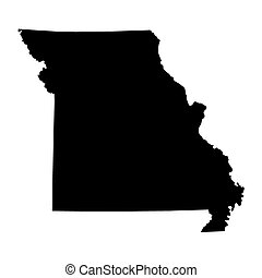 black map of Missouri map