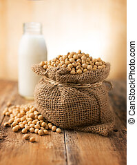 Soybeans in sack