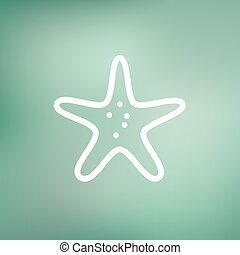 Starfish thin line icon - Starfish icon thin line for web...