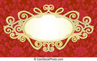 titling frame - illustration of ornamental original vector...