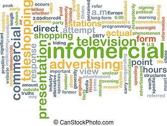 infomercial wordcloud concept illustration