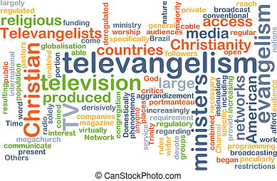 televangelism wordcloud concept illustration - Background...