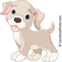 Cute puppy - Illustration of cartoon puppy