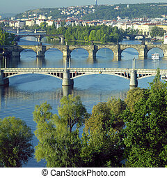 bridges, Prague, Czech Republic