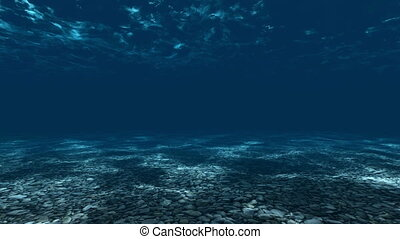 Underwater, ocean surface and botto