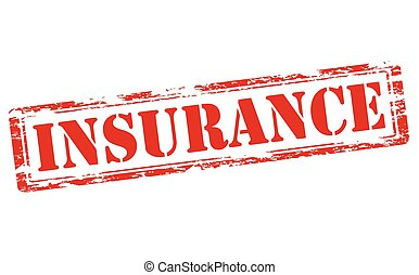 Insurance - Rubber stamp with word insurance inside, vector...