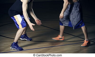 Skillful Players - Low section of basketball player...
