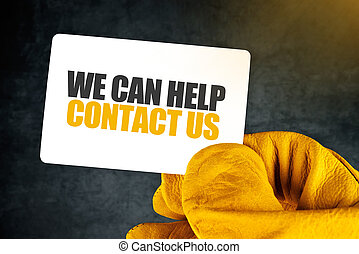 We Can Help on Business Card - We Can Help, Contact Us on...