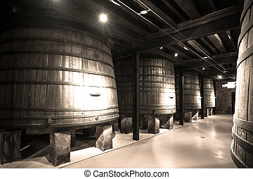 Old image  of  winery