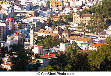 Roofs  of residential districts in andalusian town.  Malaga
