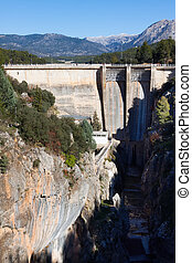 Day view of dam at Guadalentin river.  Andalusia, Spain