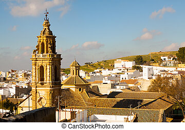View of Osuna with church Andalucia, Spain