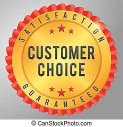 Customer choice satisfaction guarantee golden badge