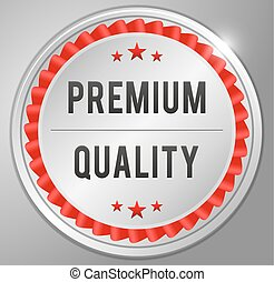 Premium quality Silver badge