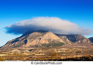 Mount and Lenticular cloud - Cerro Jabalcon mount and...
