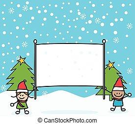 Christmas kids banner