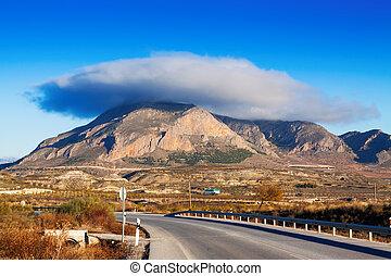 Lenticular cloud - Cerro Jabalcon mount and Lenticular cloud...