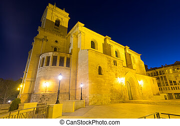 Wide angle shot of San Juan de Albacete in evening...