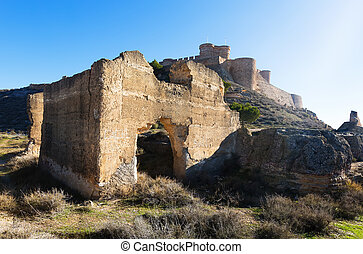 Ruins and castle of Chinchilla Chinchilla de Monte-Aragon,...
