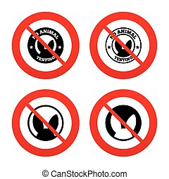 No animals testing icons Non-human experiments - No, Ban or...