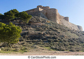 Arab castle Chinchilla de Monte-Aragon, province of...