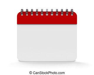 Icon calendar spiral - Blank calendar icon with spiral,...