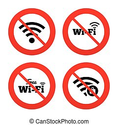 Wifi Wireless Network icons Wi-fi zone locked - No, Ban or...