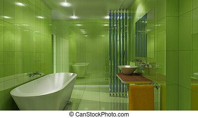 luxury green bath
