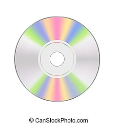 CD disc Isolated on White Background for Your Design.