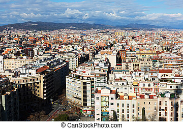 residential  district of Barcelona. Catalonia
