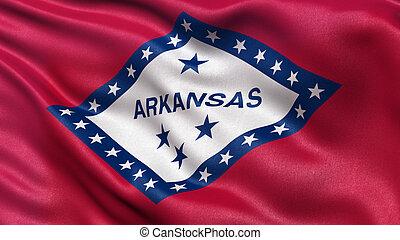 US state flag of Arkansas