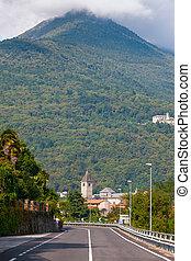 bella, isola, italia, strada,  Isola
