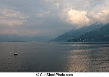 lago, vista,  maggiore