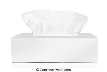 Tissue box isolated on a white background