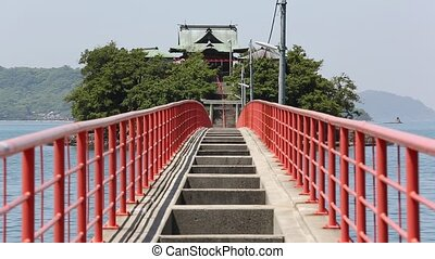 Tusima Shrine - A view of Tusima Shrine in Kagawa, Japan