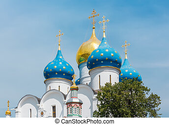Dormition Cathedral in the Trinity Lavra of St Sergius in...