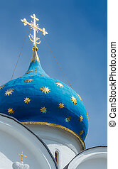 Dormition Cathedral - Closeup of the cupola of Dormition...