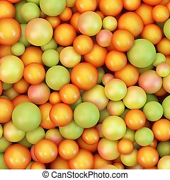 Abstract vector background with various balls Spheric...
