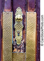 door handle on a door