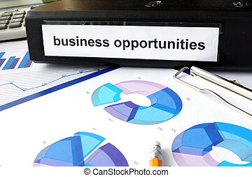 business opportunities - Folder with the label business...