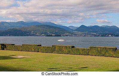 View of Lago Maggiore - View of coastline of Lago Maggiore,...