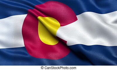 Colorado state flag seamless loop - US state flag of...