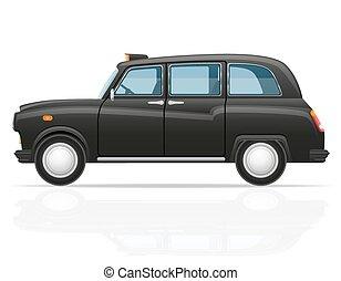 taxi, coche,  vector, londres, Ilustración