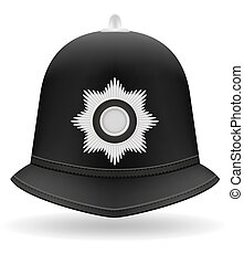 london police helmet vector illustration isolated on white...