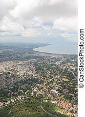 Aerial view of Dar Es Salaam - Aerial view of the city of...